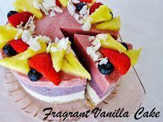 Raw Piña colada Berry Ice Cream Cake