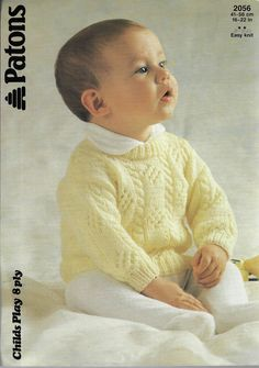 3f2e7f40f596 Details about Baby Toddler Cable Aran Sweaters Kaiapoi 703 vintage ...