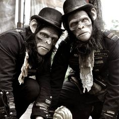 Book our unique roaming chimp characters for jungle themed events, steampunk themed events and as circus themed entertainment, they can appear solo or as a group Neo Victorian, Party Fashion, Jon Snow, Victorian Outfits, Steampunk, Entertaining, Costumes, Comics, Trousers