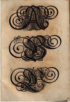 Paulus Franck - 'Schatzkammer Allerhand Versalien Lateinisch vnnd Teutsch', 1601. (A Treasure Trove of Latin and German Upper Case Letters)