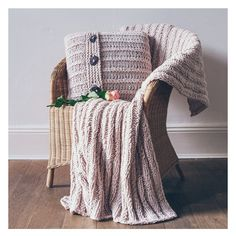 Pure New British Wool HandKnitted Cushion & by LoraJonesShoppe, £360.00