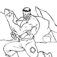hulk coloring page 35 is a coloring page from hulk coloring booklet your children express their imagination when they color the hulk coloring page they - The Incredible Hulk Coloring Pages