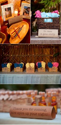 this whole wedding is adorable (style me pretty) but I love the flip flops  and wraps ... and of course, the kraft paper