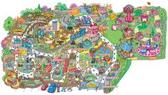 Interactive Map of Attractions at Drusillas Park in East Sussex