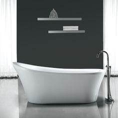 "Ove Decors Rachel 70'' x 34"" Acrylic Freestanding Slipper Tub - Rachel | Wayfair"