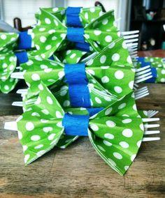 Bow tie napkin holders.