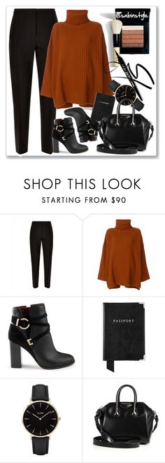 """Untitled #1859"" by sabina-127 ❤ liked on Polyvore featuring Jaeger, Bobbi Brown Cosmetics, Joseph, Miss Selfridge, Aspinal of London, CLUSE and Givenchy"