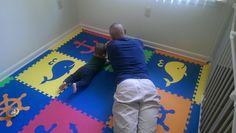 "Amazon.com - SoftTiles Nautical Ocean Theme Interlocking Foam Playmat Blue, Red, Orange, Yellow, Lime 78"" x 78"" #playroom #kidsdecor #foammats"