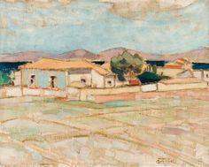 Τριανταφυλλίδης Θεόφραστος 1881 - 1955 Places To Visit, Greek, Urban, Artists, Architecture, Painting, Arquitetura, Greek Language, Artist