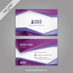 Абстрактные фиолетовые формы корпоративную карту Premium векторы