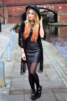 RosieGlow // UK Style + Fashion Blog: Kimono & leather