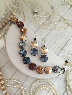 12mm Swarovski Crystal Earrings Designer by KissMySassJewelry