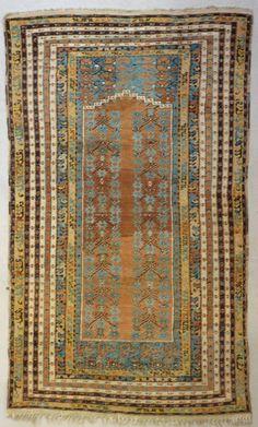 18th Century Golden Turquoise Koula Carpet  | 1stdibs.com