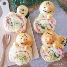 No Cook Meals, Kids Meals, Cute Food, Good Food, Cute Pizza, Small Cottage Kitchen, Bread Shaping, Kitchen Tiles Design, Japanese Food