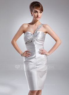 Cocktail Dresses - $108.99 - Sheath/Column One-Shoulder Knee-Length Charmeuse Cocktail Dress With Ruffle Lace Beading (016021058) http://jjshouse.com/Sheath-Column-One-Shoulder-Knee-Length-Charmeuse-Cocktail-Dress-With-Ruffle-Lace-Beading-016021058-g21058/?utm_source=crtrem&utm_campaign=crtrem_US_28010&utm_content=newsfeed