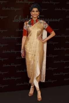 Sonam Kapoor in Anamika Khanna. Vogue 2012