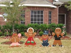 Gingerbread Man Christmas Yard Decoration - Updated : 7 Steps (with Pictures) - Instructables Christmas Yard Art, Christmas Yard Decorations, Christmas Gingerbread House, Christmas Wood, Christmas Projects, Christmas Lights, Christmas Holidays, Christmas Candy, Gingerbread Men