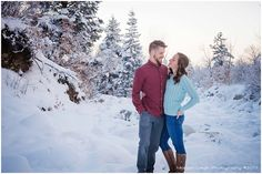 Location | Temple Quarry Trailhead    Couple | Lindsay & Wade    Little Cottonwood Canyon engagements photography | Morgan Leigh Photography