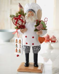 I collect Santa. I would love this one for my kitchen. He would make me smile each time I looked @ him.