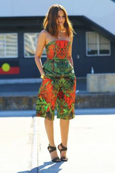 Christine Centenera Josh Goot Top And Shorts ~ African Style ~Latest African Fashion, African Prints - Women's fashion interests African Dresses For Women, African Print Fashion, African Wear, African Attire, African Style, African Prints, African Women, Look Fashion, Womens Fashion