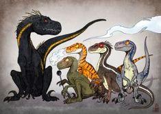 Raptors generation by In-Sine Jurassic Park Jurassic World Movies Fandom Art Arte Jurrassic Park, Park Art, Jurassic World Fallen Kingdom, Jurassic Park World, Jurassic Park Raptor, Prehistoric World, Prehistoric Creatures, Dinosaur Art, Cute Dinosaur