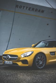 The Mercedes-AMG GT S in Rotterdam photographed by Gijs Spierings. [Mercedes-AMG GT S   combined fuel consumption 9.6-9.4 l/100km   combined CO2 emission 224-219 g/km   http://mb4.me/efficiency_statement]
