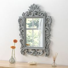 View Juliette Rococo Grey Silver Mirror product from Soraya Interiors UK, See more products like this and more wall mirror categories Grey Wall Mirrors, Hallway Mirror, Living Room Mirrors, Bedroom Mirrors, Framed Mirrors, Cheap Mirrors, Mirrors For Sale, Round Mirrors, Frames