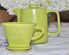 Melitta Coffee Pot and Filter 1950's by StarfishCollectibles, $30.00  I have to find this set!  Love it!