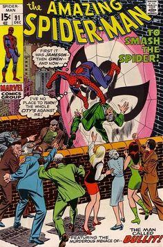 The Amazing Spider-Man #91 - December 1970 cover by John Romita Sr
