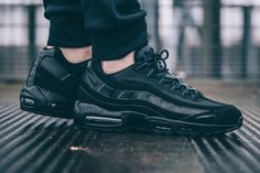 100% authentic b23bd 701ad top quality nike wmns air max 95 premium pony ab 17990 euro in jeder .  8452f c23a5  low price nike air max 95 triple black sneaker freaker fef38  6781b