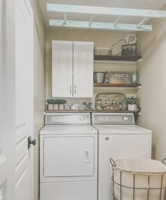 Eye-opening small laundry room ideas with top loading washer // Brilliant small . Eye-opening small laundry room ideas with top loading washer // Brilliant small laundry room/pantry Pantry Laundry Room, Laundry Room Remodel, Small Laundry Rooms, Laundry Room Organization, Laundry Room Shelves, Ideas For Laundry Room, Laundry Organizer, Compact Laundry, Basement Laundry