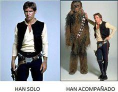 Han solo...jejejejejeje. #spanish #humor