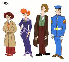 "In her delightfully titled ""Scooby Doo, When Are You?"" series, artist Julia Wytrazek has perfectly imagined what Velma, Daphne, Shaggy, and Fred would have worn from 1910 through to the '90s. I might be biased, but I like Velma's looks the best."