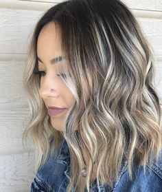 Side Swept Waves for Ash Blonde Hair - 50 Light Brown Hair Color Ideas with Highlights and Lowlights - The Trending Hairstyle Brown Ombre Hair, Ash Blonde Hair, Light Brown Hair, Light Hair, Brown Hair Colors, Blonde Balayage, Bayalage, Hair Highlights, Blonde Highlights On Dark Hair Short