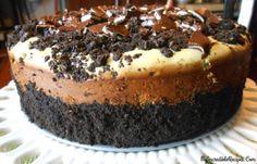 Chocolate-Mint Oreo Cheesecake!