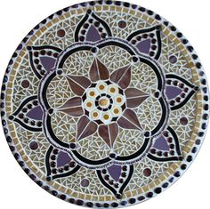Mosaic Mandalas interpreted in stained glass, freshwater pearls, traditional glass smalti, glass beads, semi-precious stones and backpainted glass. Mosaic Stepping Stones, Stone Mosaic, Mosaic Glass, Glass Art, Stained Glass, Sea Glass, Mosaic Artwork, Mosaic Wall Art, Mosaic Tiles