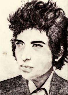 Marga Grima (Fine Art): Bob Dylan Graphite (2014)