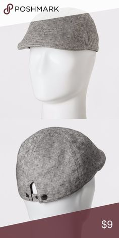 Striped Ivy Tiny   Off White Driving Cap Men s Solid Striped Ivy Tiny   Off  White Driving Cap - Goodfellow   Co Black One Size Black driving cap pairs  well ... 3dd03e6f6f3e