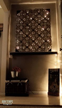 Made from 4-cup cardboard holders from Macca's this awesome light feature is cheap, diy and recycled!