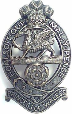 British Army Princess of Wales Regiment Officer Beret Badge