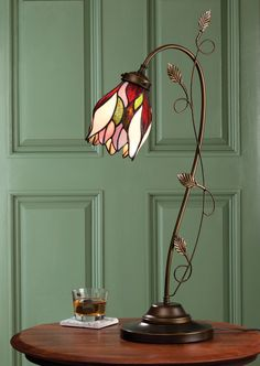 Tulip Stained Glass Lamp | Acorn Online
