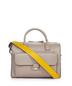 Light+grey+leather+grab+bag+by+Anya+Hindmarch+on+secretsales.com