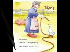 """Joy Cowley narrates """"Mrs. Wishy-Washy and the Big Wash"""". Love for Retelling!"""