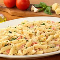 Penne Pasta with diced tomato and fresh Ricotta cheese