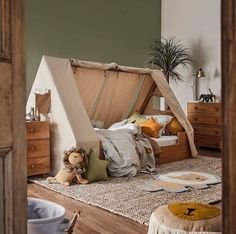 Our Kid's bedroom range has arrived! Your little ones will fall in love with every piece, including the safari-themed Hideout bed with… The Effective Pictures We Offer You About Montessori books A qua Safari Bedroom, Baby Bedroom, Baby Boy Rooms, Baby Room Decor, Kids Bedroom, Room Kids, Boys Jungle Bedroom, Safari Kids Rooms, Tent Bedroom