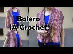 👚Como tejer un bolero a crochet Bolero Crochet, Youtube, Crochet Dresses, Jackets, How To Knit, Boleros, Hearts, Tutorials, Tejidos