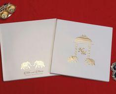 Indian Wedding Invitation Cards, Wedding Invitations Online, Wedding Stationery, Elephant Design, Designer Collection, Prints, Wedding Invitations, Wedding Invitation