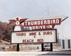 Thunderbird Drive-In opened October 4, 1968 on US-31 between Hoover and Vestavia