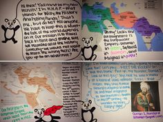 Book Creator HS World History Examples (love that these were hand-drawn and then turned digital): http://eaneswifi.blogspot.com/2015/04/historic-use-of-books.html