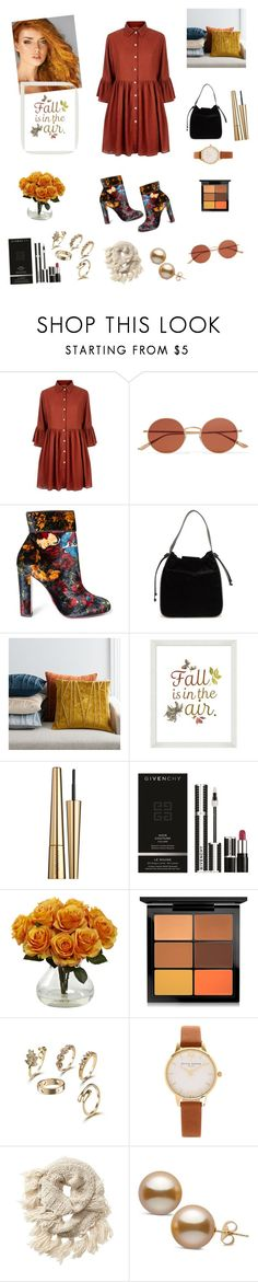 """""""Untitled #566"""" by miss3agle ❤ liked on Polyvore featuring Mela Loves London, Oliver Peoples, Christian Louboutin, French Connection, West Elm, Pottery Barn, Estée Lauder, Givenchy, MAC Cosmetics and Olivia Burton"""